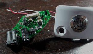 Modulo gafas FPV y botón colocado