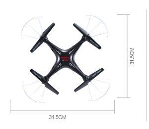 Dimensiones Drone Syma X5SW