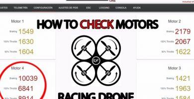 Comprobar motores con Raceflight